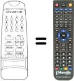 Replacement remote control Elekta CTR1441EM