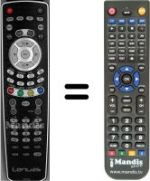Replacement remote control LENUSS HDTV 22ST01