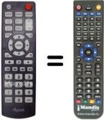 Replacement remote control 4GEEK PLAYO