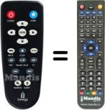 Replacement remote control Iomega ScreenplayMX2 HD