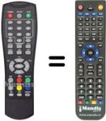 Replacement remote control TELECO RDT1001