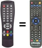 Replacement remote control TELSEY DTFREE2116