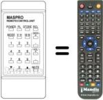 Replacement remote control Maspro SRE90RHS