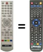Replacement remote control IPTV SUP7991