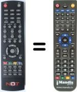 Replacement remote control NOT ONLY TV LV6TMPVR4-SAT-DTT-NOT-ONLY-TV