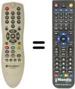 Replacement remote control NEXT WAVE CX6000