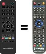 Replacement remote control TEKCOMM TCT3400