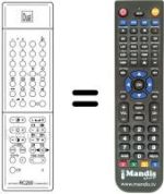 Replacement remote control STV DTV 6332 M