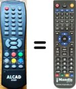 Replacement remote control ALCAD RT 009