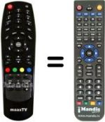 Replacement remote control MaaxTV LN 4000