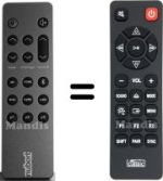 Replacement remote control NUBERT HVS50268