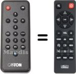Replacement remote control CANTON HVS50271